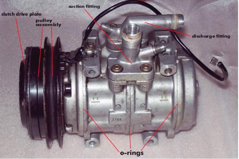 nama bagian kompresor ac mobil